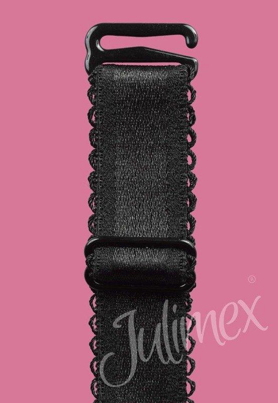 Ramiączka materiałowe Julimex czarne 16mm